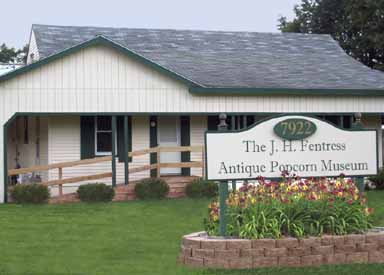 The J.H. Fentress Antique Popcorn Museum in Northwest Ohio, specializing in Holcomb & Hoke Butter-Kist Popcorn Machines, Peanut Roasters and Memorabilia